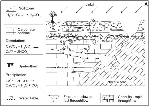 Hình 6. Mô hình khái niệm hệ thống karst [6]
