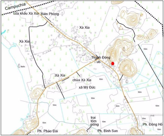 Hình 1. Vị trí Địa di sản Thạch Động