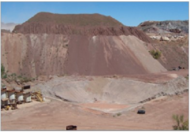 Heap leach, Bighorn gold mine, CA. PHOTO: Bender Environmental Consulting