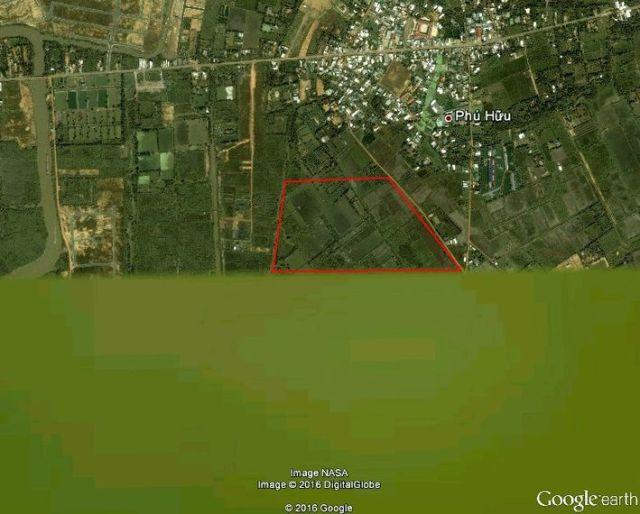 Hình 2. Năm 2004, diện tích phía bắc dự án vẫn là đất ruộng?