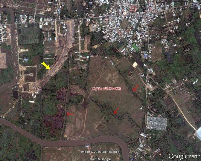 Hình 4. Đất khu dự án vào năm 2010