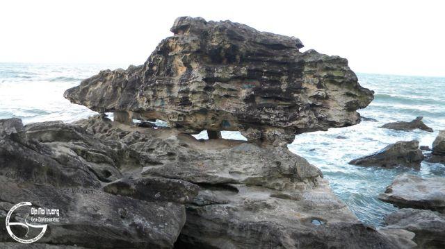Hình 6. Khối đá được hình dung theo các con vật khác nhau: rùa, cá sấu, heo rừng