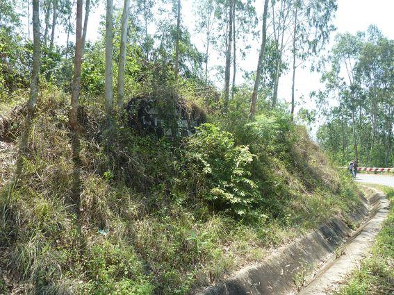 Vị trí có ranh giới khộng rõ ràng giữa granodiorit và bazan