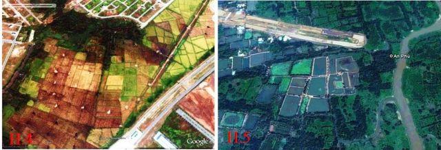 Hình 4. Khu vực đất nông nghiệp, Hình 5. Khu vực đất tự nhiên
