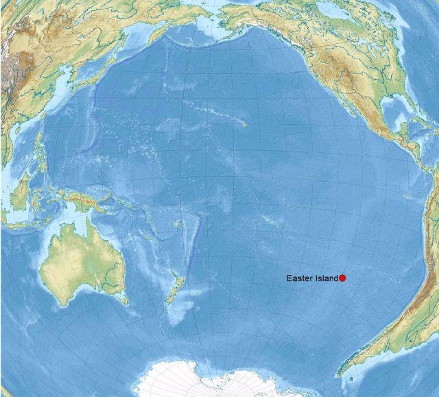 Hình 2. Vị trí địa lý đảo Easter