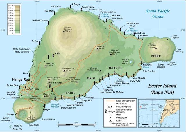 Hình 1. Đảo núi lửa Earster