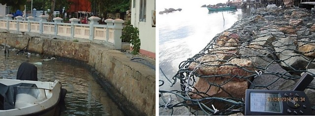 Hình 11. Kè bê tông tại Dương ĐôngHình 12. Kè rọ đá tại Bãi Thơm