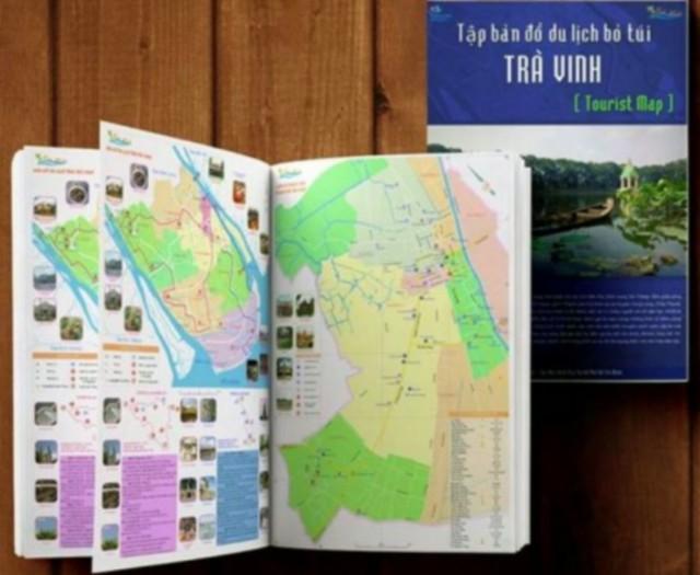 Hình 6: Tập bản đồ du lịch bỏ túi tỉnh Trà Vinh