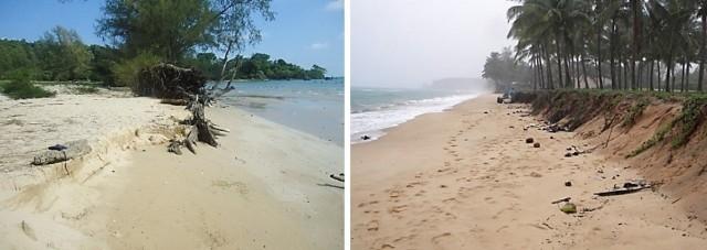 Hình 7. Kiểu bờ cát mịn tại Vũng Bầu Hình 8. Kiểu bờ cát mịn tại Dương Đông